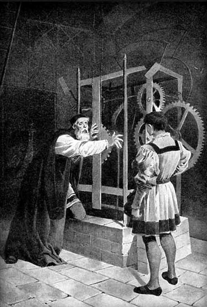 Master Hanuš with his apprentice