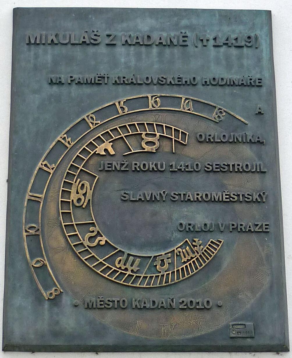 Memorial Plaque to Mikuláš of Kadaň