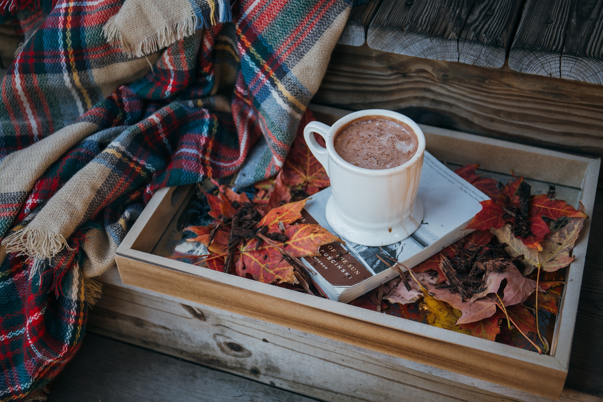 Hot Chocolate in autumn